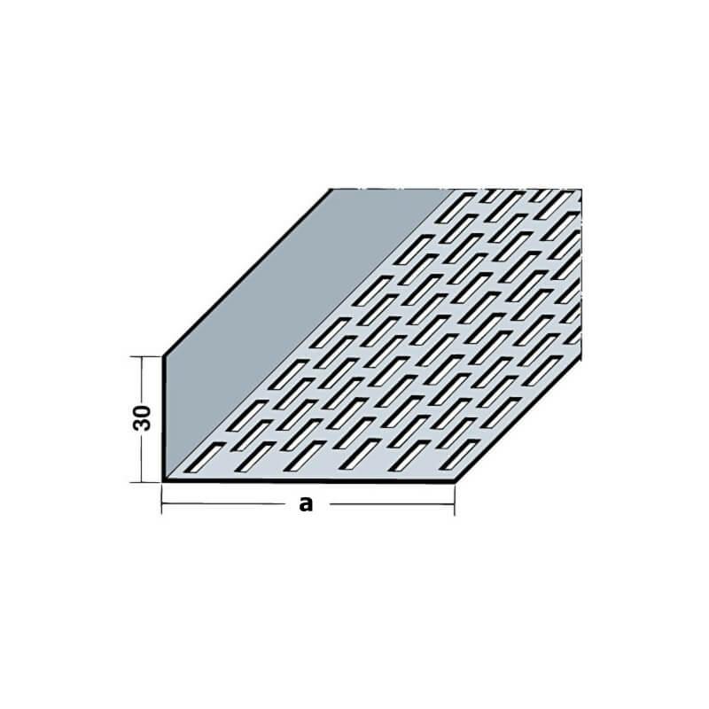 L hliníková vetracia mriežka (2,5m), 30x60mm