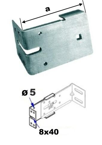 NÁDSTAVEC uhlový pre stenový uholník SU-3000-OPV, pozink