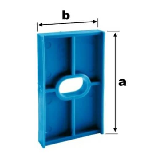 TERMOSTOP PODLOŽKA POD UHOLNÍK 80x44x6 Modrá, pre hliník
